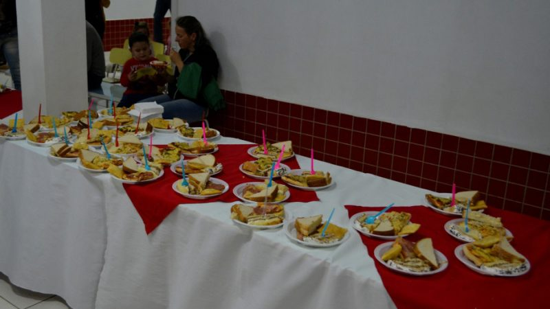 Ao final do evento foi servido o lanche.